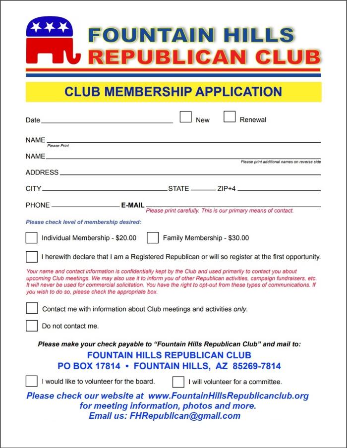 2019 Application for Membership